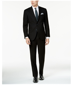 Kenneth Cole Mens 2 Piece Solid Two Button Formal Suit