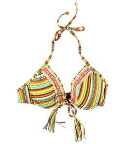 Lucky Brand Womens U-Wire Crochet Halter Swim Top