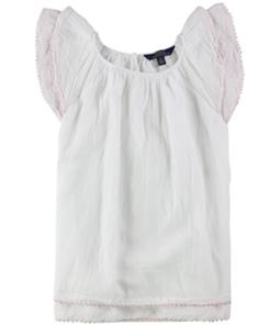Ralph Lauren Girls Flutter Sleeve A-line Dress