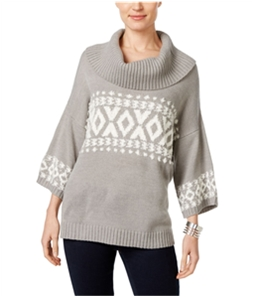 Style & Co. Womens Fair-Isle Cowl Pullover Sweater