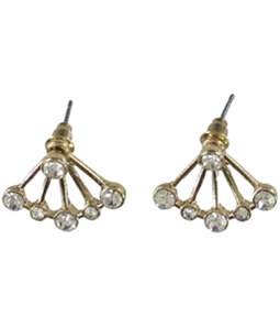 Aeropostale Womens Rhinestone Stud Earrings