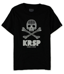 KRSP. Mens 3d Skull And Crossbones Graphic T-Shirt