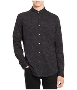 Calvin Klein Mens Jersey Button Up Shirt