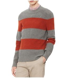 Calvin Klein Mens Mock Neck Striped Pullover Sweater