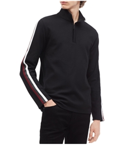 Calvin Klein Mens 1/4 Ribbed Pullover Sweater
