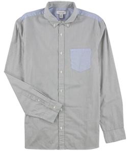 Calvin Klein Mens Striped Button Up Shirt