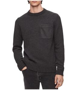 Calvin Klein Mens Felt-Pocket Knit Sweater
