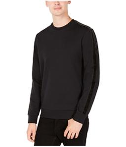 Calvin Klein Mens Velvet Stripe Sleeve Pullover Sweater