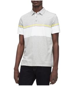 Calvin Klein Mens Two Tone Stripe Rugby Polo Shirt