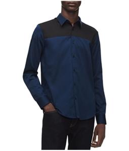 Calvin Klein Mens 2 Tone Button Up Shirt