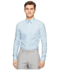 Calvin Klein Mens Fine Check Cord Button Up Shirt