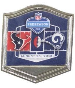 WinCraft Unisex Rams Vs Texans Preseason 2018 Pin Brooche