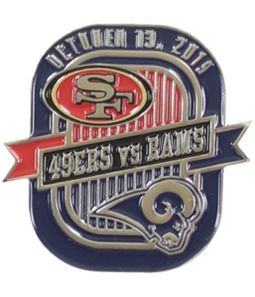 WinCraft Unisex Rams VS 49ers 10/13/19 Pin Brooche