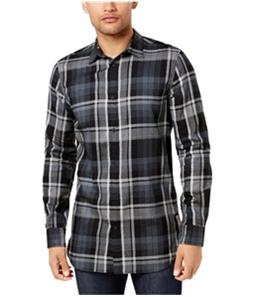 Calvin Klein Mens Highland Plaid Button Up Shirt