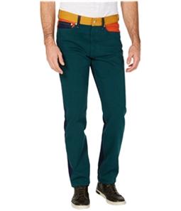 Calvin Klein Mens Patch Colorblock Straight Leg Jeans