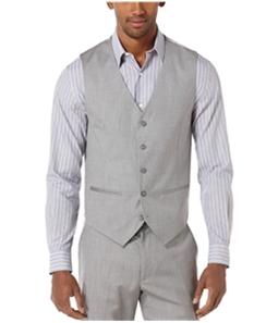 Perry Ellis Mens Textured Five Button Vest
