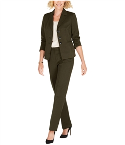 Le Suit Womens Striped Three Button Blazer Jacket
