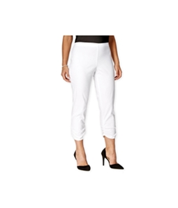 Style & Co. Womens Ruched Cropped Skinny Casual Trouser Pants