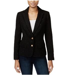 maison Jules Womens Textued Two Button Blazer Jacket