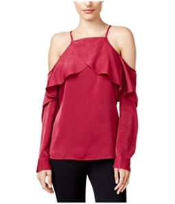 bar III Womens Cold Shoulder Knit Blouse
