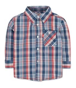 Levi's Boys Plaid LS Button Up Shirt
