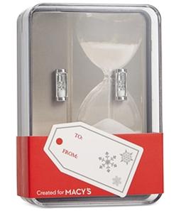 Novel Idea Mens Hourglass Rectangle Shape Cufflinks