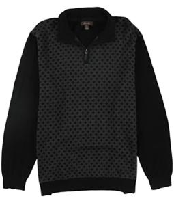 Tasso Elba Mens Patterned Quarter Zip Knit Sweater