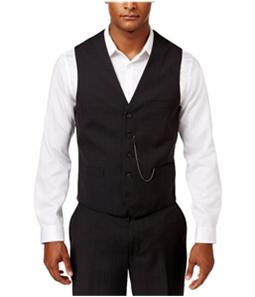 I-N-C Mens Jace Slim Plaid Five Button Vest