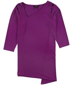Alfani Womens Asymmetrical Pullover Blouse