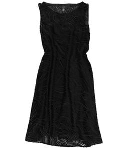Alfani Womens Velvet A-line Dress