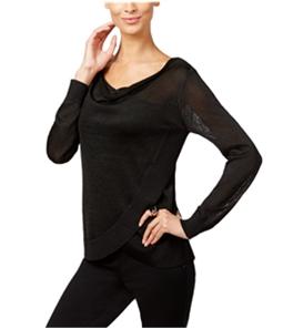 I-N-C Womens Metallic Pullover Blouse