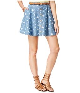 American Rag Womens Star-Print Belted Mini Skirt