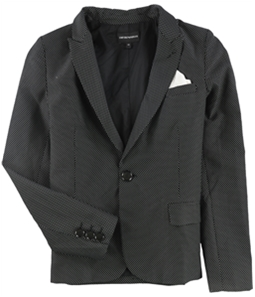 Armani Womens Pindot One Button Blazer Jacket