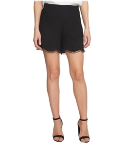 CeCe Womens Scallop Embroidery Casual Walking Shorts