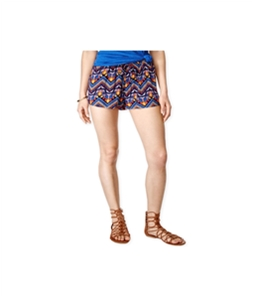 Stoosh Womens Printed Drawstring Casual Mini Shorts