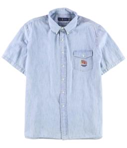 Ralph Lauren Mens Chambray Button Up Shirt