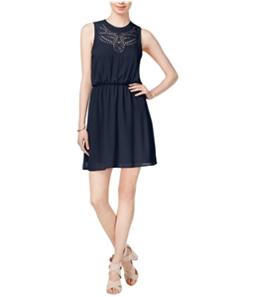 maison Jules Womens Laser A-line Fit & Flare Dress
