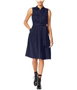maison Jules Womens Utility-Pocket Shirt Dress