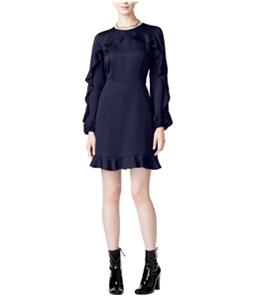 maison Jules Womens Ruffle Fit & Flare Dress