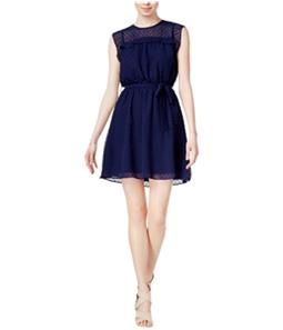 maison Jules Womens Swiss-Dot A-line Dress