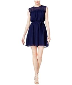 maison Jules Womens Swiss-Dot Fit & Flare Dress