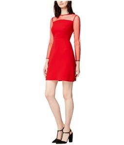 maison Jules Womens Illusion Shift Dress