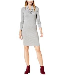 maison Jules Womens Cowl-Neck Fit & Flare Dress