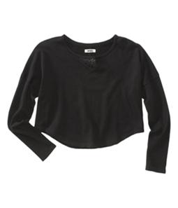 Aeropostale Womens Cropped Animal Print Knit Sweater