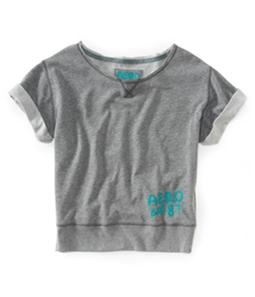 Aeropostale Womens Aero Est. 87 Solid Color Sweatshirt