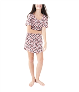 Aeropostale Womens Lips and Eyes Pajama Shirt Dress