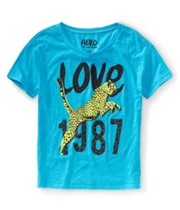 Aeropostale Womens Love 1987 Cheetah Pajama Sleep T-shirt