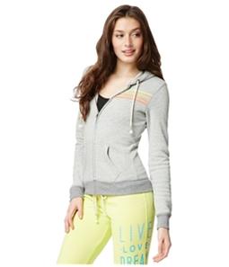 Aeropostale Womens Striped FZ Hoodie Sweatshirt