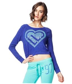 Aeropostale Womens Heart Icon Crop Sweatshirt