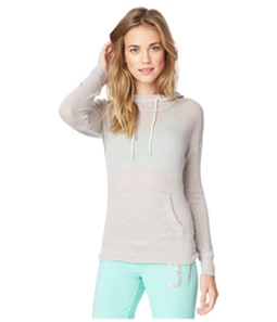 Aeropostale Womens Striped Knit Hoodie Sweatshirt